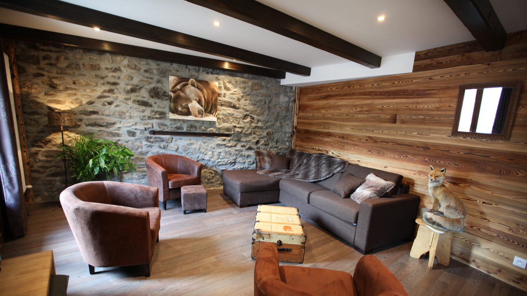 Intérieur d'appartement en location à Valloire