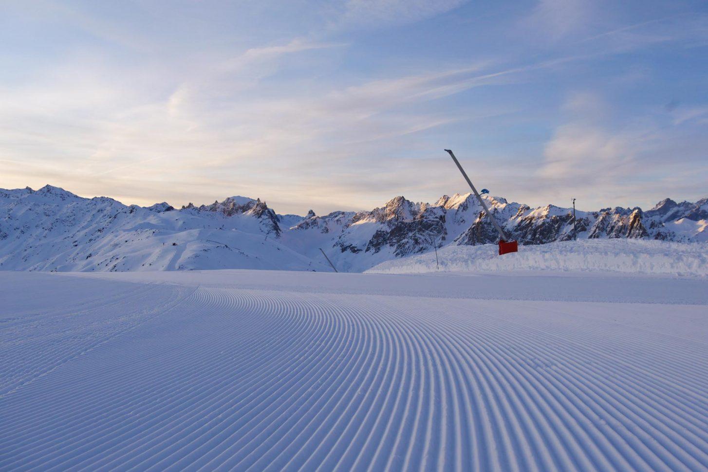 Ouverture des pistes du domaine skiable de Valloire - Massif du Crey du Quart