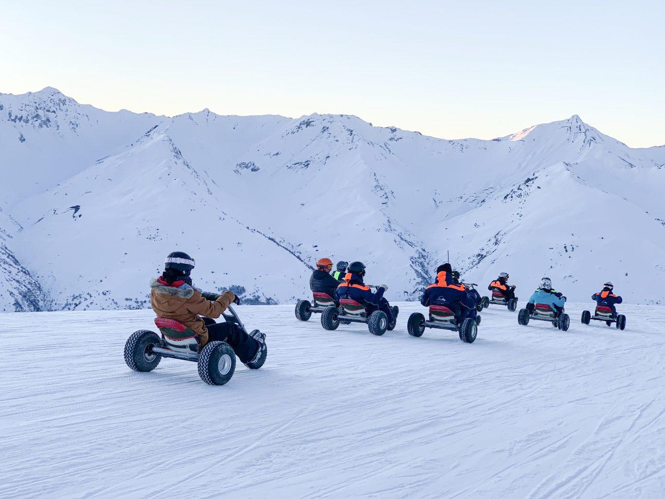 Mountain Kart sur le domaine skiable de Valloire