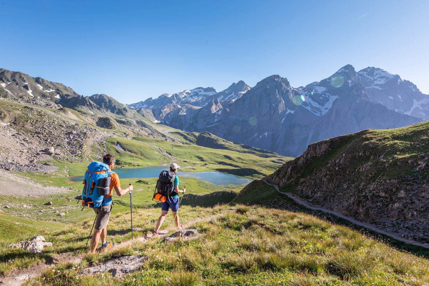 Randonnée en couple au Lac des Cerces à Valloire