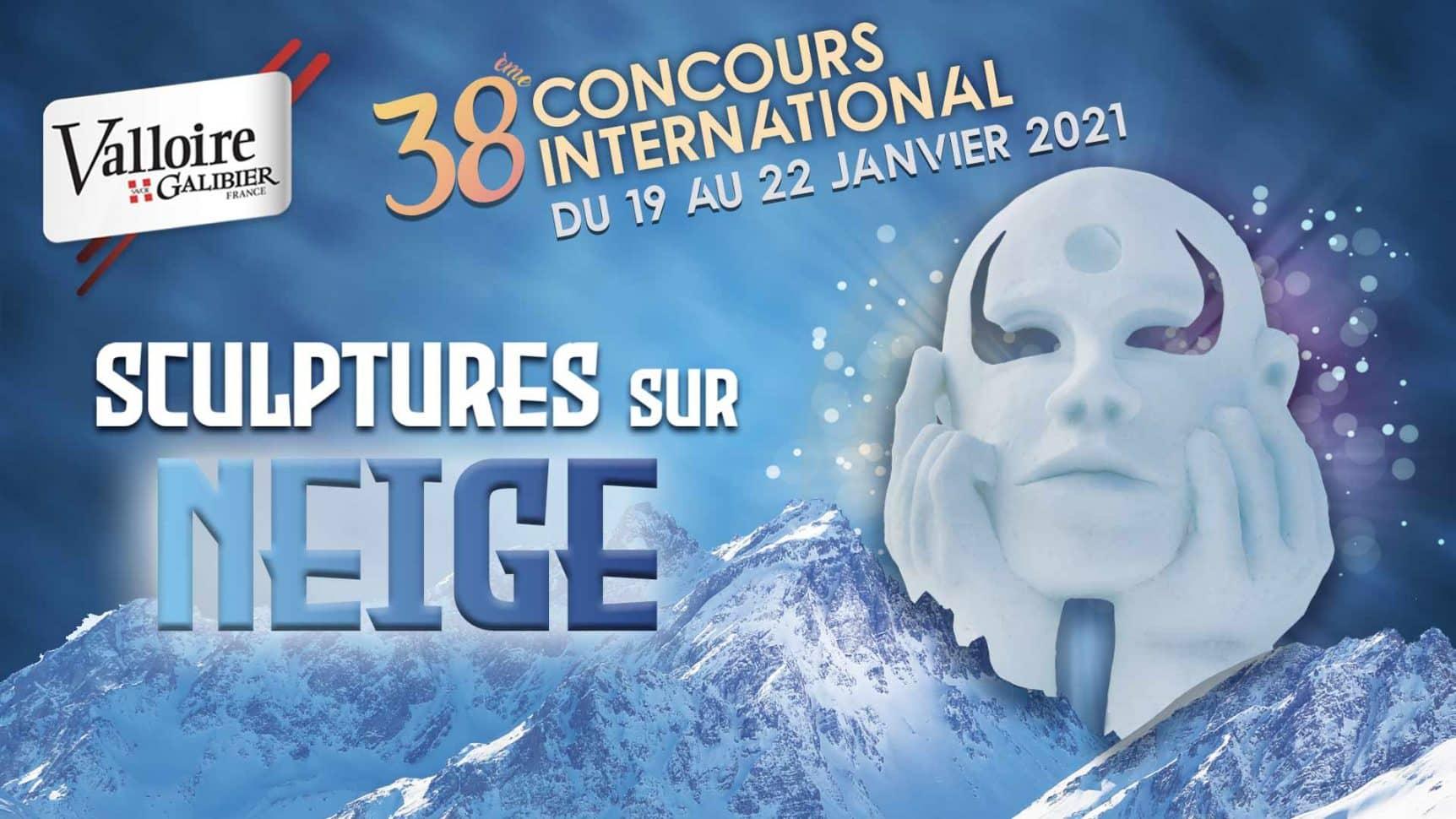 38ème concours de Sculptures sur Neige à Valloire !