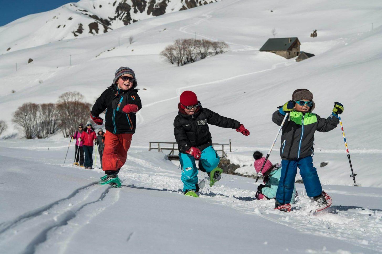 Rires d'enfants à la neige !