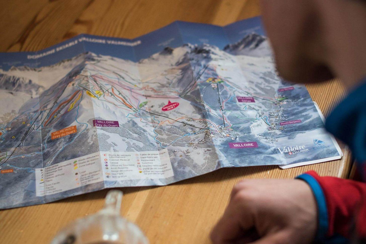 Le plan des pistes du Domaine skiable Galibier-Thabor à Valloire