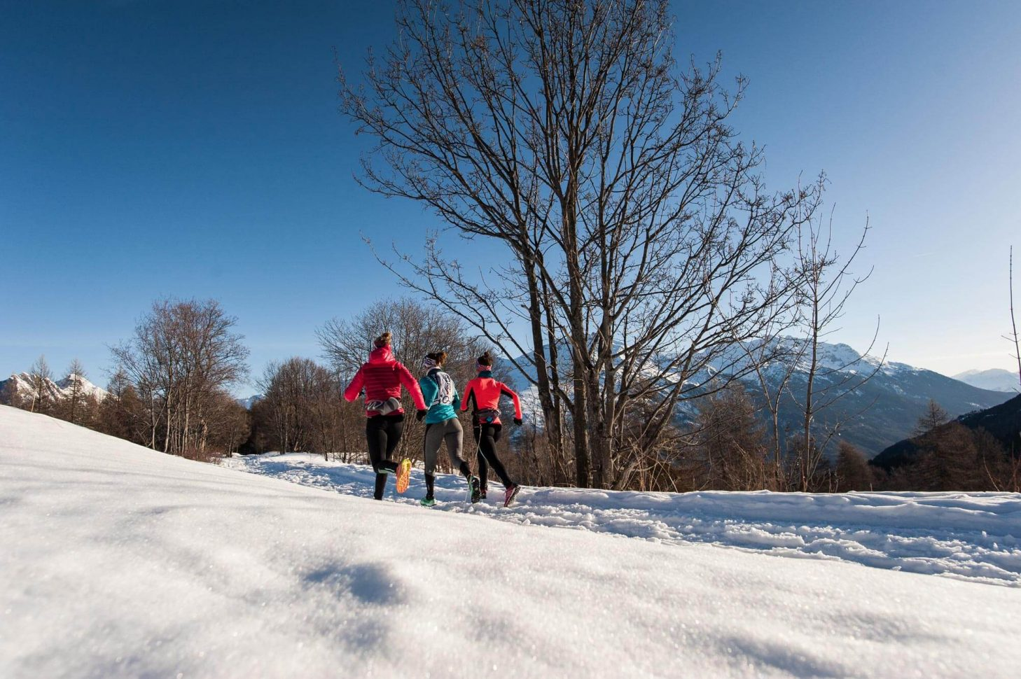 Trail sur les chemins enneigés de Valloire Galibier
