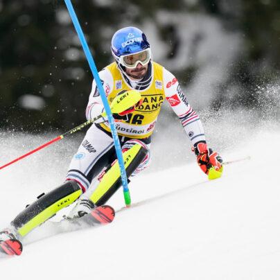 Jean-Baptiste Grange au Slalom d'Alta Badia (Italie) en décembre 2020