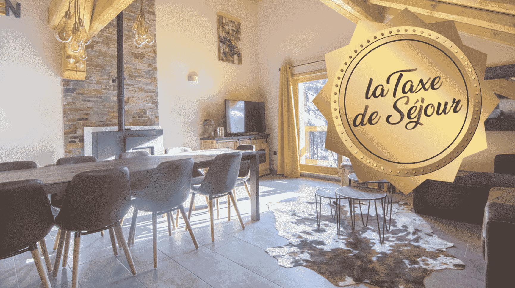 salle à manger et vignette taxe de séjour à Valloire