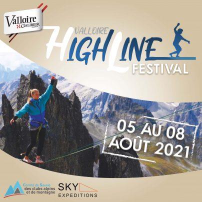 festival de highline 2021 à Valloire